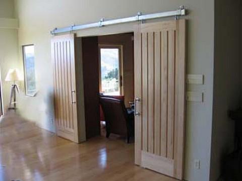 Раздвижная дверь своими руками фото