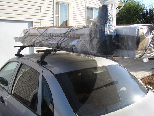 Ворота дорхан на багажнике на крыше автомобиля