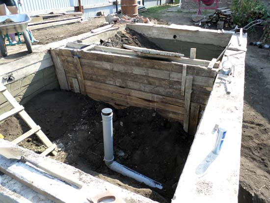 ленточный бетонный фундамент бани