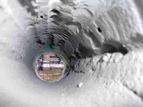 дыра в стене для кондиционера
