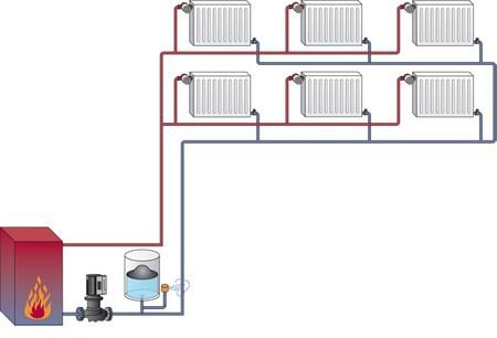 система отопления с нижней разводкой