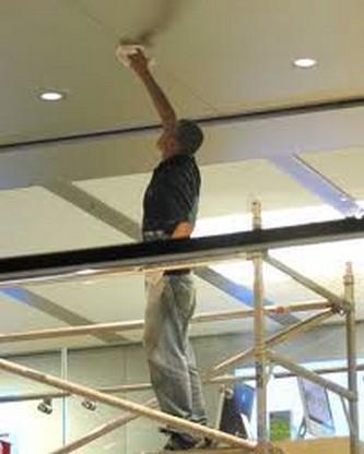 как смыть потолок