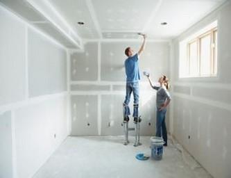 монтаж гипсокартонных потолков
