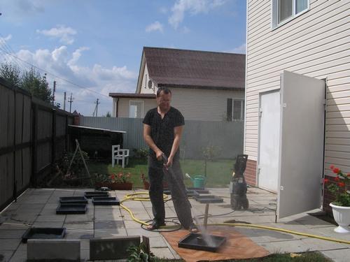 мытье форм для плитки