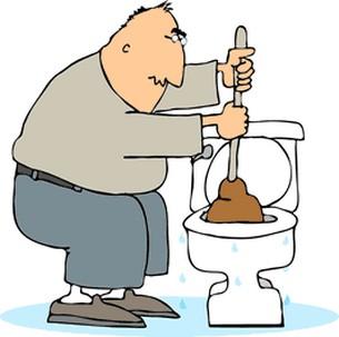 засор в туалете