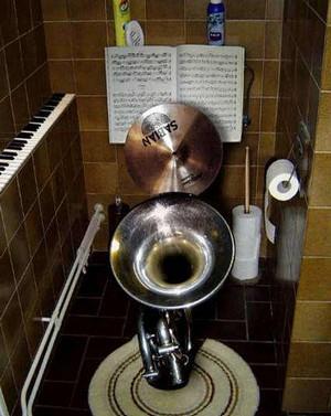 музыка в туалете