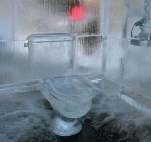 в туалете холодно