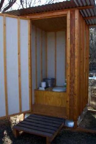 туалет для дачи деревянный