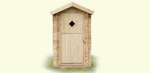 туалет в деревне
